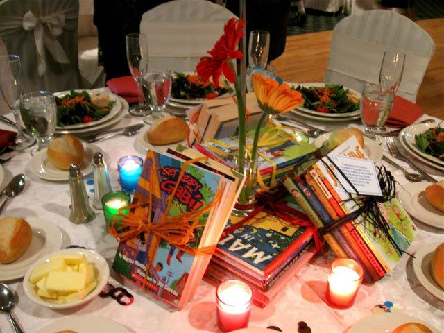 Planning a Bar Mitzvah or Bat Mitzvah Party: Bar Mitzvah Centerpiece Idea for a Charitable Donation Theme