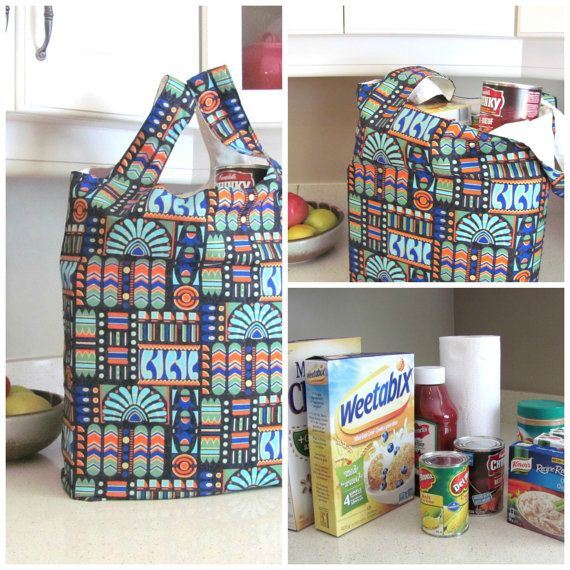 Aztec Print Grocery Tote Bag Reusable Bag Large Knitting