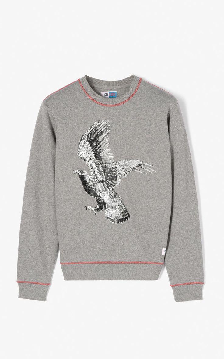 DOVE GREY 'Eagle' sweatshirt for men KENZO