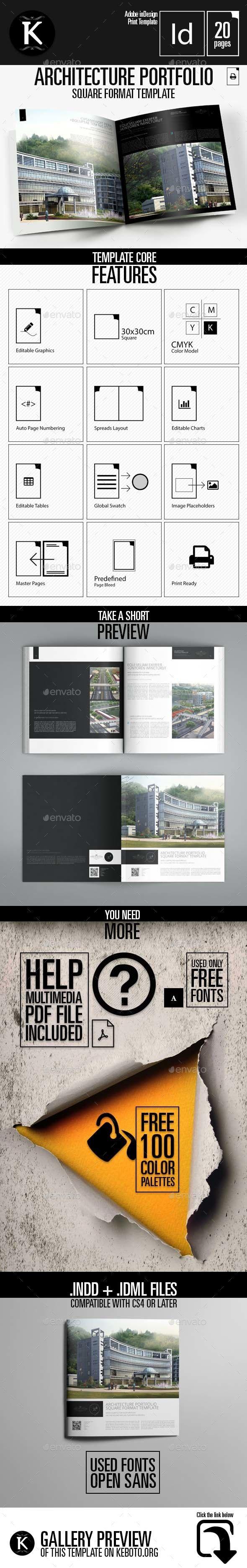 Architecture Portfolio Square Format