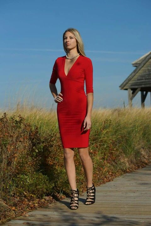 The Loop in Kincardine, ON. Strutting the boardwalk in our cherry red dress.