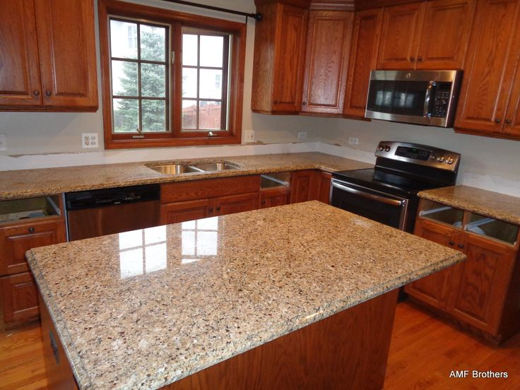 New Venetian Gold, West Chicago IL Granite Countertops Projects Installed  November 2015 By AMF Brothers