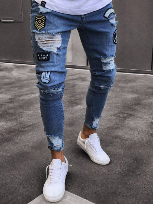 Tidebuy Com Offers High Quality Tidebuy Hole Fashion Design Men S Skinny Jeans Price Ropa Para Hombres Jovenes Ropa Casual De Hombre Pantalones De Hombre Jeans