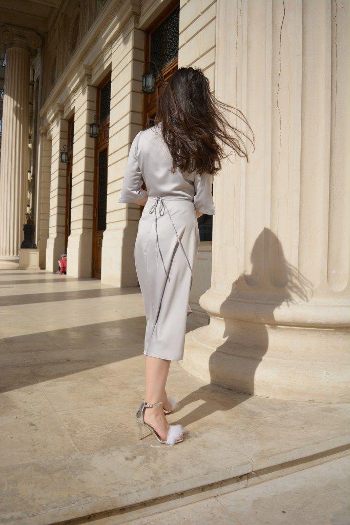Silky Grey Dress and flurry sandal