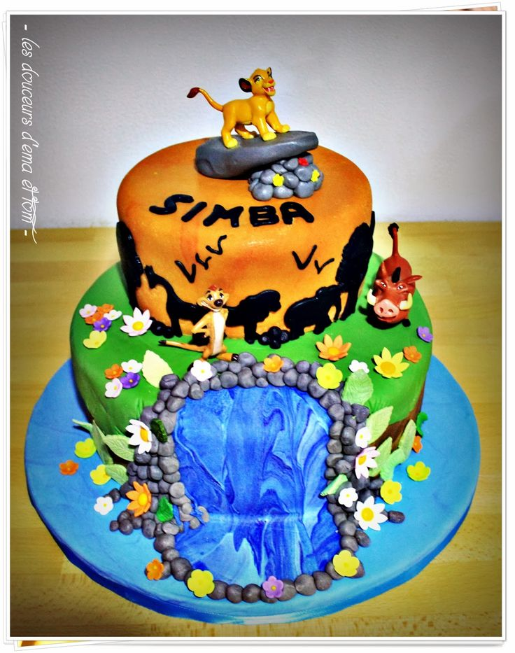 decoration gateau le roi lion
