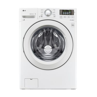 LG 5.0-cu ft High-Efficiency Stackable Front-Load Washer (White) ENERGY STAR