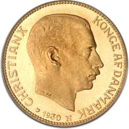 The 20 Kroner Christian X gold coin was minted by the Danish government between 1913 and 1917. It is quite a limited period of minting therefore these Danish coins are characterized by a scarce mintage. Other Danish kings illustrated on the 20 Kroner gold coins are Christian IX and Frederik VIII. King Christian X was the last one to complete the series....