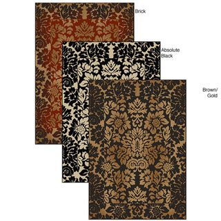 @Overstock.com - Amalfi Paradise Rug (7'9 x 11') - Update your home decor with a new rugArea rug is machine-made of 100-percent heat set olefinTransitional rug is available in brick, absolute black and chocolate/gold color options http://www.overstock.com/Home-Garden/Amalfi-Paradise-Rug-79-x-11/4469418/product.html?CID=214117 $181.99