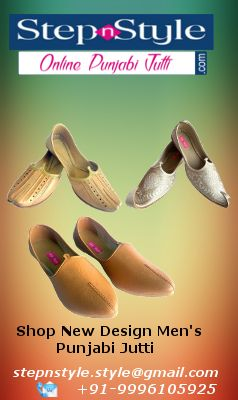 Save your #Money by #Online #Shopping of New #Design #Men's #Punjabi #Jutti, Handmade Aladdin #Khussa Leather Jutti, Shoes-Juti-Traditional-Leather-Khussa Medium, Plain Pure Buffalow Leather Soft Khussa #Shoes and more from #StepNStyle at #OnlinePunjabiJutti.com.