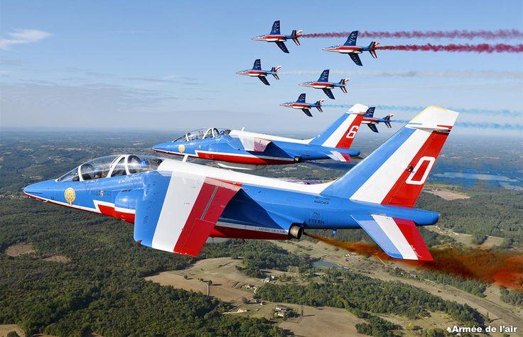 La Patrouille de France Dassault Dornier Alpha Jets.