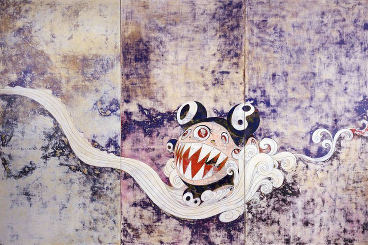 Takashi Murakami The Octopus Eats Its Own Leg Vancouver Art Gallery Artwork Paintings Exhibit Installation