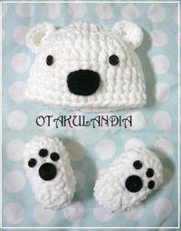 Disfraz para bebé Mod. Oso Polar!! ideal para hacerle sus primeras fotografías y perfecto para regalo... Realizado a mano en crochet con lana increíblemente suave y esponjosa, parece algodón... ¡¡estará para comérselo a besos!!