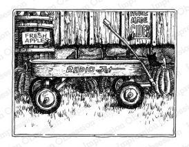 Wagon IOI rubber stamps