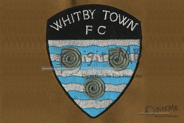 Whitby Town FC Digitized Logo  New #digitize designs at Digit Embroidery for Whitby Town FC Football Club. It's a striking addition to #Caps, #Shirts, & #Jackets! The colors and intricate detail add #eyecatching interest to our design. Click here to find the designs: http://www.digitemb.com/New-Register.php   #JacketBackDesign #WhitbyTownFC #DigitizedLogo #Polyester #Jacketback #DigitEMb #FashionDesign #CompanyLogo #Creativedesign #LogoDesigns