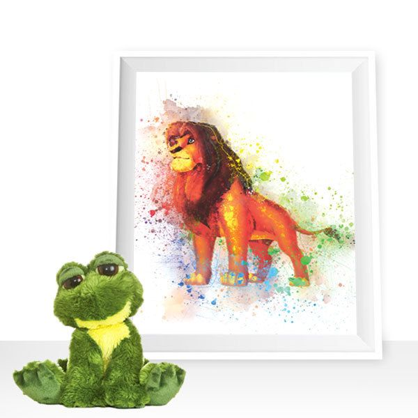 The Lion King print, Simba print, Lion wall decor, Simba printable, Disney The Lion King, Lion watercolor, Lion King printable by HappyLittleFrog on Etsy