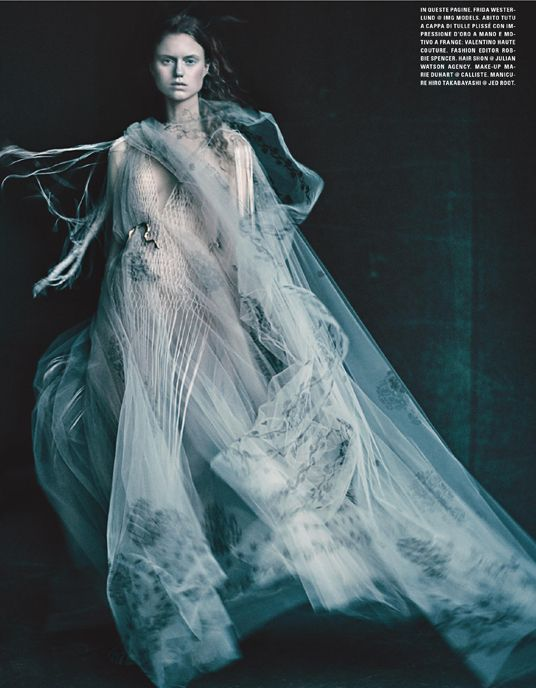 The Look: Paolo Roversi for Vogue Italia March 2016 Couture Supplement - Valentino