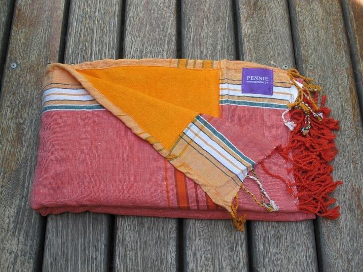 Kikoy Towel Red-Orange - pennie.gr