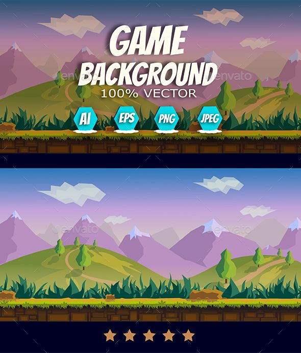 Game Background — Vector EPS #game assets #2D game • Available here → https://graphicriver.net/item/game-background/12937941?ref=pxcr