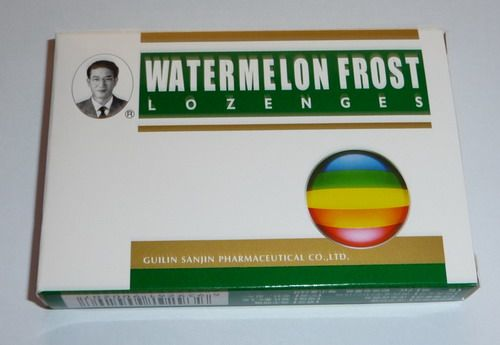 Effectiveness for the hoarse of voice -- Watermelon Frost Lozenges -- Relieve swelling and pain