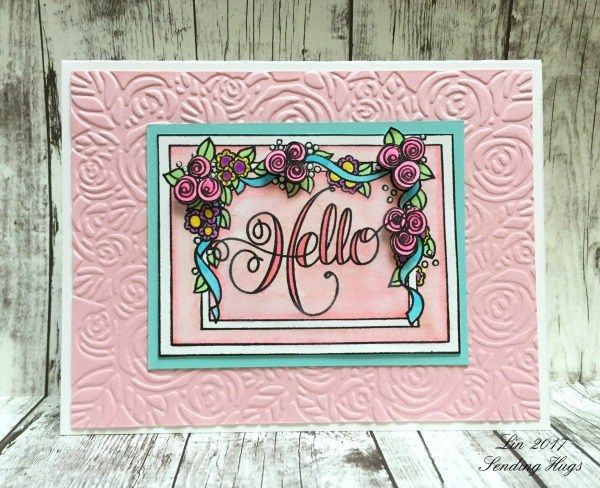 Floral Hello Card by Lin Brandyberry | www.tammytutterow.com