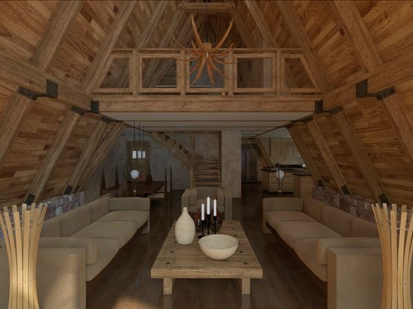 153 best A-Frame Interiors images on Pinterest | Small houses, A ...