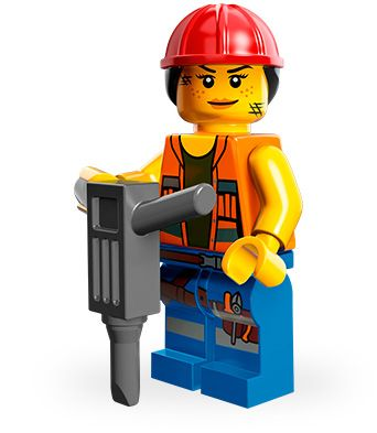 Lego Movie Minifigures - Gail the Construction Worker