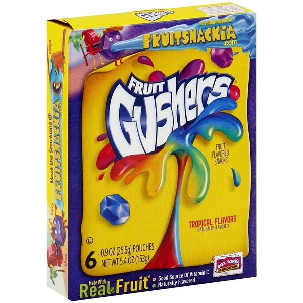 Fruit Gushers Tropical Flavored Fruit Snacks 6 ct ❤ liked on Polyvore featuring food