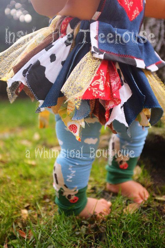 Farmer or Western cowgirl scrap fabric tutu  by InsideTheTreehouse, $73.50
