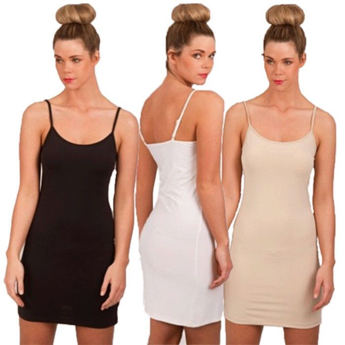 Stretch fabric, Long tops and Slip dresses on Pinterest