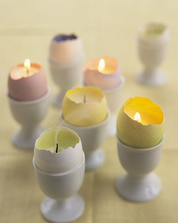 I don't know that I'd ever get around to doing this, but it sure is sweet!  You could actually just take a tealight apart and stick it in and let it melt around...