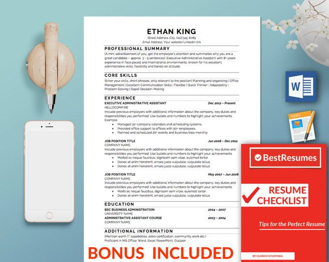 Resume Template Optimised for Applicant Tracking System (ATS)   Clean Resume, Resume Template Word, Simple Resume, Classic Resume, Traditional Resume Template, Resume Design Professional Resume Template