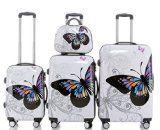 Butterfly 2060 4tlg Reisekofferset Trolley Gepäckset Reisekoffer Hartschalen Kofferset Koffer