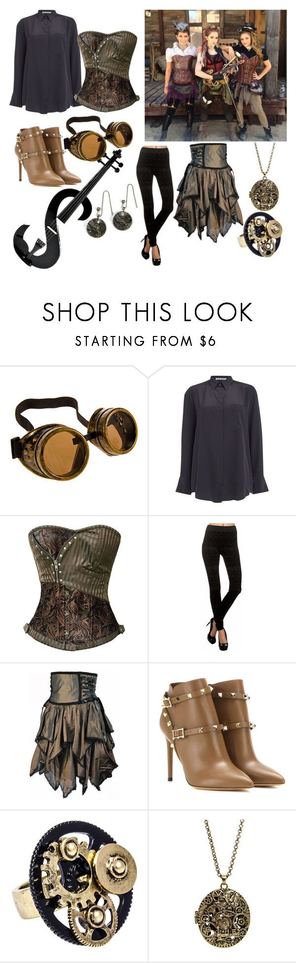 """""""Get the Look: Roundtable Rival video (Lindsey Stirling)"""" by thatwwefangirl ❤ liked on Polyvore featuring Acne Studios, Valentino, women's clothing, women's fashion, women, female, woman, misses and juniors"""