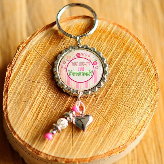 Believe in Yourself  Key chain  high resolution by CreativeHands4U