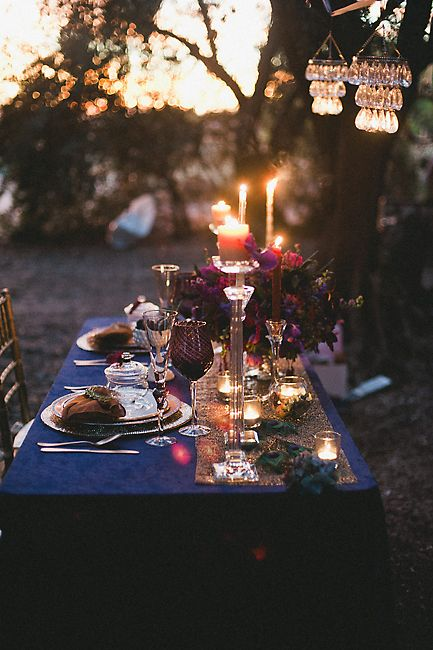 Outdoor Jewel Tone Table Setting - Elizabeth Anne Designs: The ...