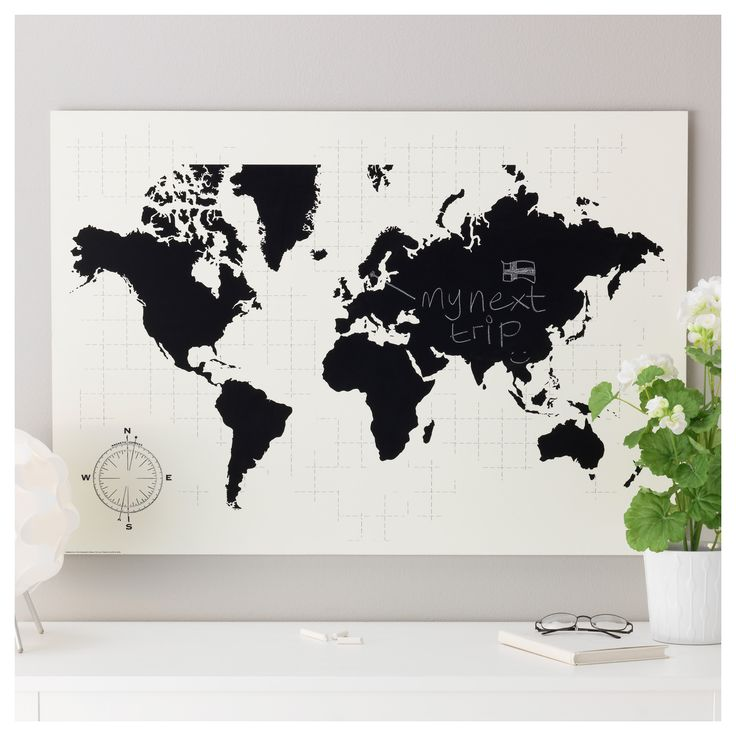 Meer dan 1000 idee n over wereldkaart poster op pinterest wereldkaarten an - Tableau ikea noir et blanc ...