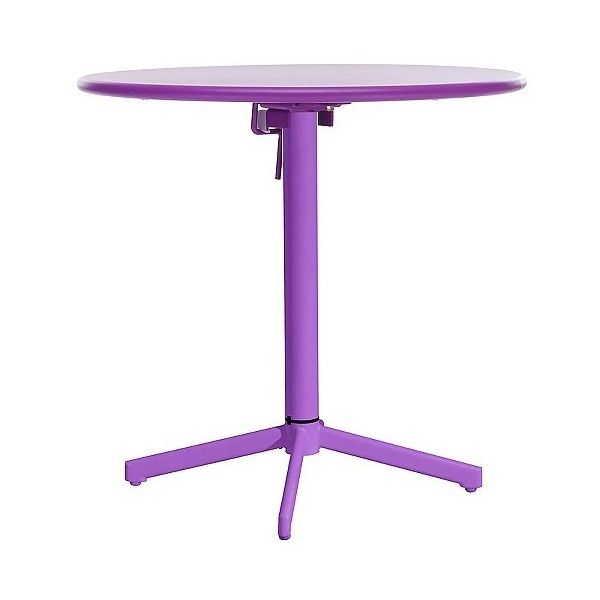 Zuo Big Wave Round Folding Table ($166) ❤ liked on Polyvore featuring home, outdoors, patio furniture, outdoor tables, purple, round outdoor table, round folding tables, outdoor table, round outdoor patio table and circular outdoor furniture