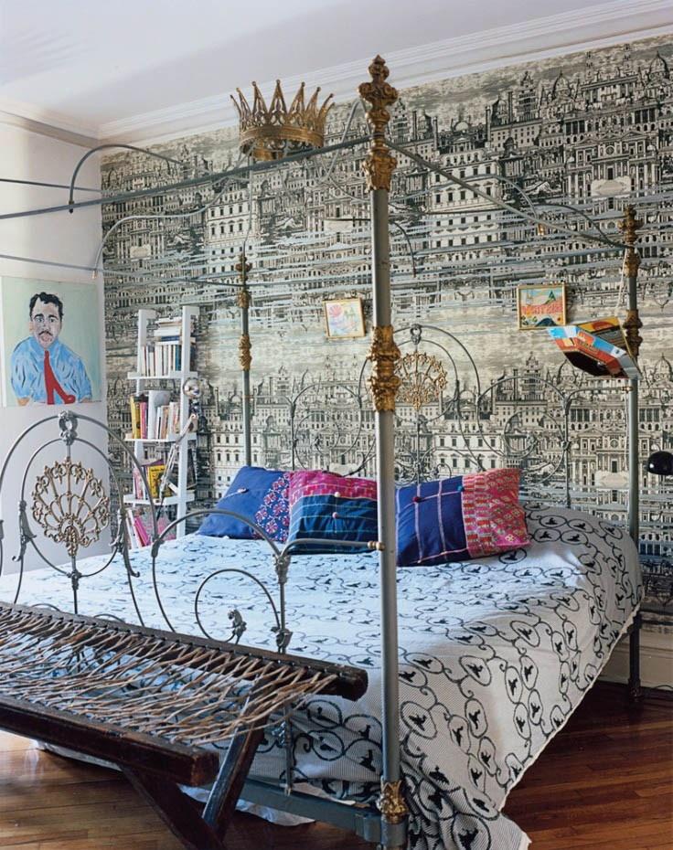 Decorators Best Whimsical Decor Inspiration Cole And Son Fornasetti Wallpaper Riflesso White