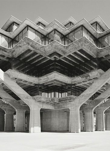 Architect - William Pereira (Geisel Library, UC San Diego) || Photographer - Stephen Tamiesie.