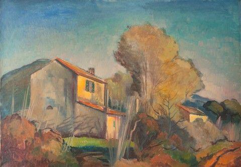 Nejedlý Otakar (1883–1957)   Krajina z Korsiky   Aukce obrazů, starožitností   Aukční dům Sýpka