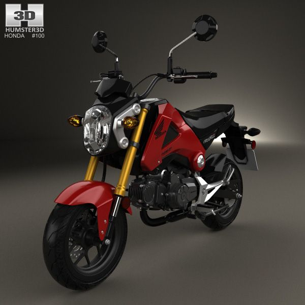 Honda Grom 125 2014 3d model from humster3d.com. Price: $75