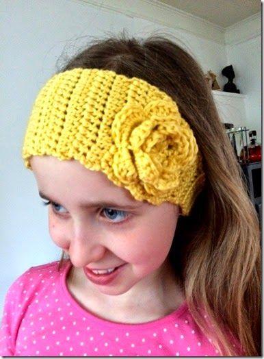 DIY - free pattern for crochet headband #crochet #crocheting #hekle #hekling #heklet #hårbånd #pannebånd #påske #easter