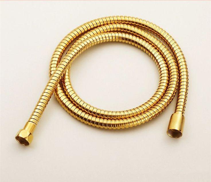 Bathroom Replacement Anti-twist Shower Hose 1.5m flexible brass material chrome shower head bathroom water hose HJ-0515