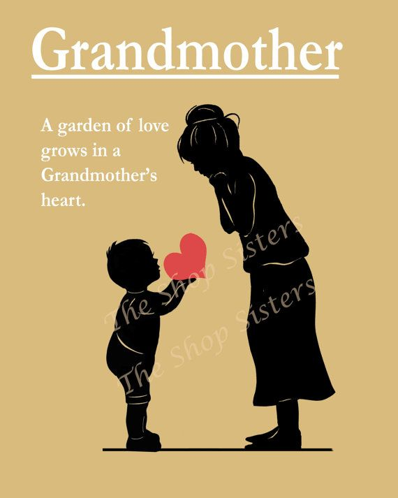 art grandma and granddaughter -