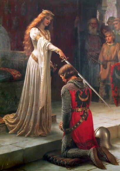 «Акколада» (1901) (Элеонора Аквитанская) Эдмунд Блэр Лейтон (англ.Edmund Blair Leighton; 21 сентября, 1853— 1 сентября, 1922)— английский художник, писавший в стиле романтизма и прерафаэлитизма.