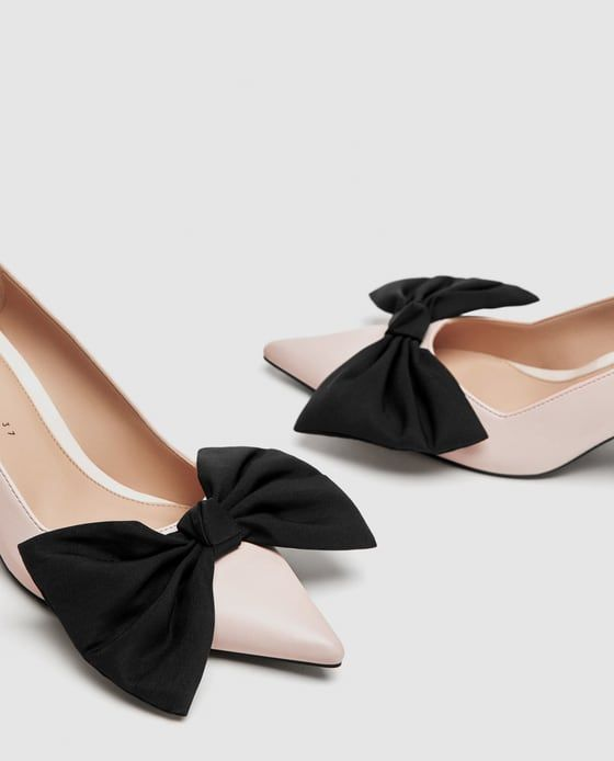 cc9fde5f62d Image 6 of MEDIUM HEEL COURT SHOES WITH BOW from Zara
