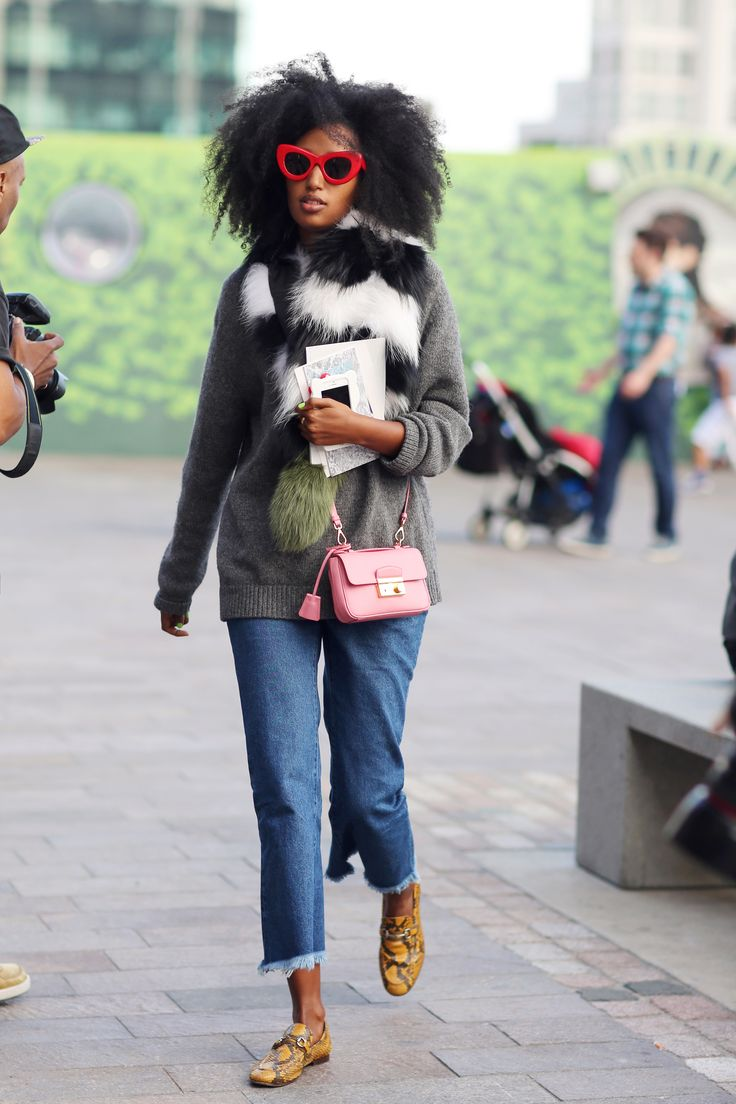 i-D fashion editor Julia Sarr-Jamois loves her Gucci snaffle loafers