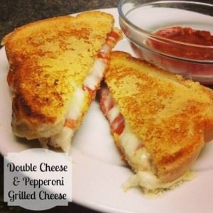 Double Cheese and Pepperoni Grilled Cheese