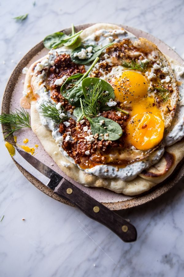 Turkish Fried Eggs in Herbed Yogurt, perfect for brunch or an easy weeknight meal!
