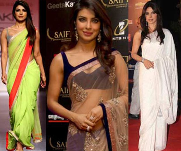 PC is known for her different styles, attitude and confidence to stand out from the crowd. Checkout the Sizzling Avatar of Priyanka Chopra in Saree now!